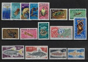 Upper Volta: 4 sets, +sigles, Mint, fish - insects - animals - EBHV01