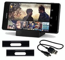 Lade Station für Sony Xperia Z3 Z3 Compact Magnet Dockingstation Dock Schwarz