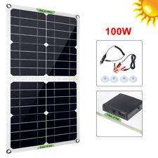 100W Solarpanel Solarmodul Solarzelle 12V Solar Photovoltaikmodul 10A Controller