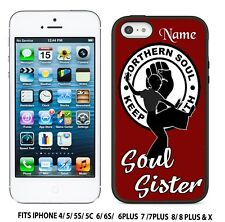 PERSONALISED SOUL SISTER  NORTHERN SOUL MOD    GEL  IPHONE CASE COVER