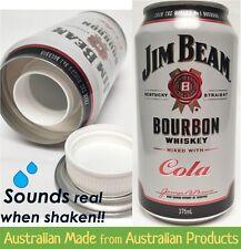 Jim Beam & Cola Stash Can - 375ml Bourbon Can Diversion Safe - Secret Storage