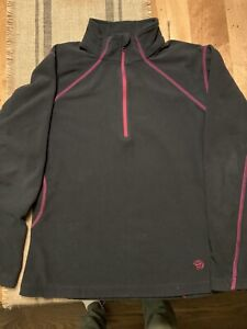 Mountain Hardwear 1/4 Zip Girls Large Black Fleece
