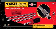 KD GewrWrench Brand  8915 15 PC STUBBY GEAR DRIVER SET
