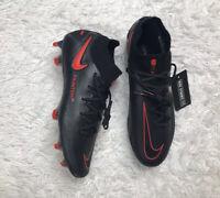 Nike Phantom GT Elite DF FG Black Red Soccer Cleats CW6589-060 Mens Size 12.5