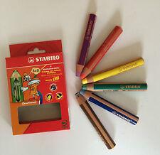 STABILO WOODY 3 in 1 PENNARELLI 6er GESSI PASTELLI Multitalent penna