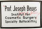 Joseph Beuys - Institut for Cosmetic Surgery - HAND SIGNED Art Postcard 1975
