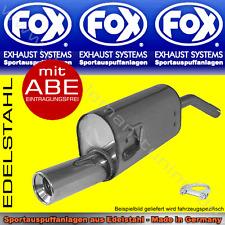 FOX ENDSCHALLDÄMPFER Honda Civic 3/CRX 2 EC8/EC9 ED6/ED7/ED9 EE8/EE9 88-91 1x90