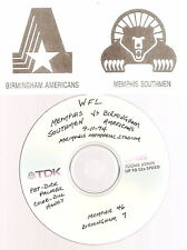 Original WFL Radio Broadcast on CD-Memphis Southmen vs Birmingham Americans 1974