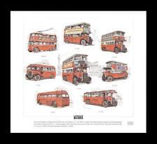 Old London Buses LTL Q LT NS T ST Trolleybus Art Print