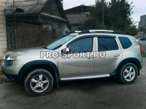 Renault Duster 2015 2016 Fender Flares Extension Arch ABS