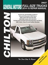 GM Full Size Trucks (Silverado, Sierra, Suburban, Tahoe) Manual: 2014-2016