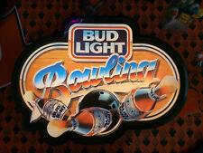 New ListingVintage Bud Light Bowling Lighted Beer Sign Bar Light Ball Pins Strike Spare