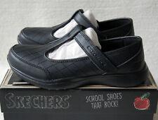 SKECHERS MICROSTRIDES - SCHOOL TRENDZ BLACK T-BAR MARY JANE SNEAKERS UK4 RRP£37