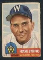 1953 Topps #51 Frank Campos VGEX Senators DP 87156