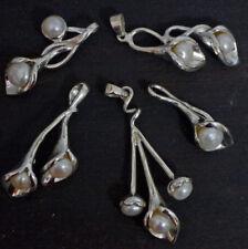 Halsketten und Anhänger mit Bewusstseins echten Perlen aus Sterlingsilber
