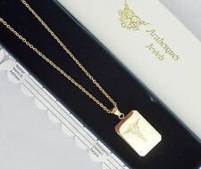 MENS QUALITY SOS NECKLACE MEDICAL ALERT/EMERGENCY/STAINLESS STEEL TALISMAN GOLD