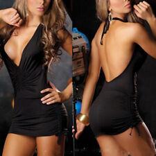 Sexy Women Backless Deep V Dress Bodycon Clubwear Party Cocktail Mini Dress
