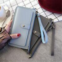 Women Purse PU Lady Handbag Female Card Wallet Handbag Clamps Billfold Cash Clip