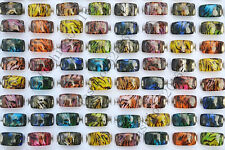 Wholesale Lots jewelry 25pcs Square Leopard Resin Lucite Children/Kid Rings FREE