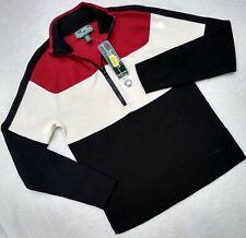 $89.50 New! Women's L - LAUREN ACTIVE - Ralph Lauren-1/2 zip colorblock sweater