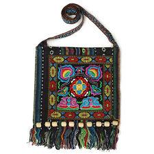 New Women Vintage Ethnic Shoulder Bag Embroidery Boho Hippie Tote Messenger Bag