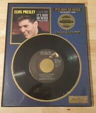RARE PLATINIUM RECORD ELVIS PRESLEY ITS NOW OR NEVER LIMITED #12