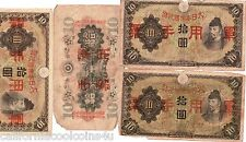 1- WWII ERA JAPANESE MILITARY CURRENCY 10 Yen 1938 AD- for Use in Occupied China