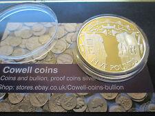 2002 Golden Jubilee Yeomen guardias de £ 5 Cinco libra de plata oro moneda de prueba