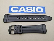 Genuine Casio AW-80 AW-82 black resin rubber watch band strap
