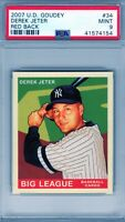 "2007 Upper Deck Goudey #34 ""Derek Jeter""  PSA 9 {Red Back ""POP 9""} ""NYY Stud"""