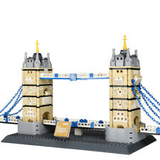 ABS Tower Bridge Architecture Building Blocks Model Compatible City Bricks Toys