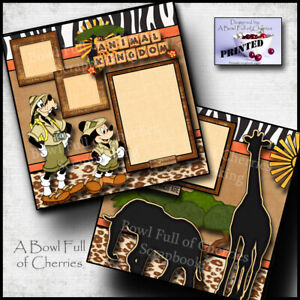 Disney Animal Kingdom 2 premade scrapbook pages paper printed layout Cherry 0009