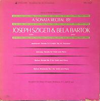 VANGUARD MONO VRS-1130/1 A SONATA RECITAL BY JOSEPH SZIGETI & BELA BARTOK EX-/EX