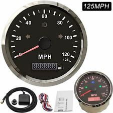 MPH GPS Speedometer Odometer 125MPH Mileage Adjustable Overspeed Alarm for Boat