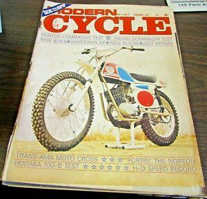 VINTAGE - MODERN CYCLE  - FEBRUARY 1971  - VERY GOOD