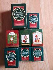 Lot of 8 Hallmark Keepsake Ornament Collectors Club Christmas Holiday Santa Elf