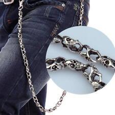 86cm Metal Skull Chain Jeans Wallet Ghost Rock Punk Keychain Pants Biker Jewelry