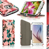 PU Leather Skin Flip Case for Samsung Galaxy S6 SM-G920F Stand Book Folio Cover