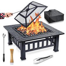 Feuerschale für den Garten Feuerstelle Feuerkorb Grillschale mit Funkenschutz