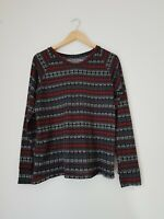 Womens Top Size 12 Black Unbranded <FF1022z