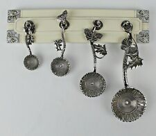 4 Ganz Butterfly Measuring Spoons & Polystone Decorative Attractive Display Rack