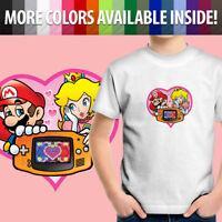 Princess Peach Love Heart Game Boy Mario Cute Gift Toddler Kid Tee Youth T-Shirt