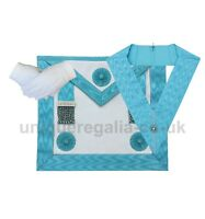 Masonic Regalia Craft Master masons MM Apron Imitation,Officer Collar and glove