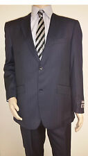 Men's Premium Quality Fancy Stripe Modern Fit Dress Suits Navy Brand New 38R
