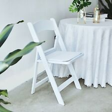31-Inch tall White Folding Chair Vinyl Padded Seat Party Decorations Supplies