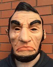 Máscara de The Purge 3 Abraham Lincoln Abe Halloween Vestido de fantasía año electoral Látex