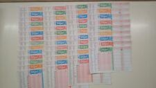 SCHEDINE TOTOGOL -CAMPIONATO COMPLETO DA  N. 1 A 48  ANNATA 1997/98