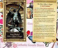 St Michael - Police Officer's Prayer to Saint Michael - Paperstock Holy Card