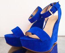 ALDO Bright Blue wedges Size 38/5 UK