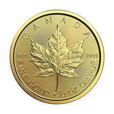 1/2 oz Gold 2019 Maple Leaf RCM - .9999 0.5 oz Gold Coin - Royal Canadian Mint